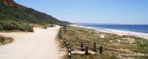 Praia da Fonte da Telha, concelho de Almada, Portugal